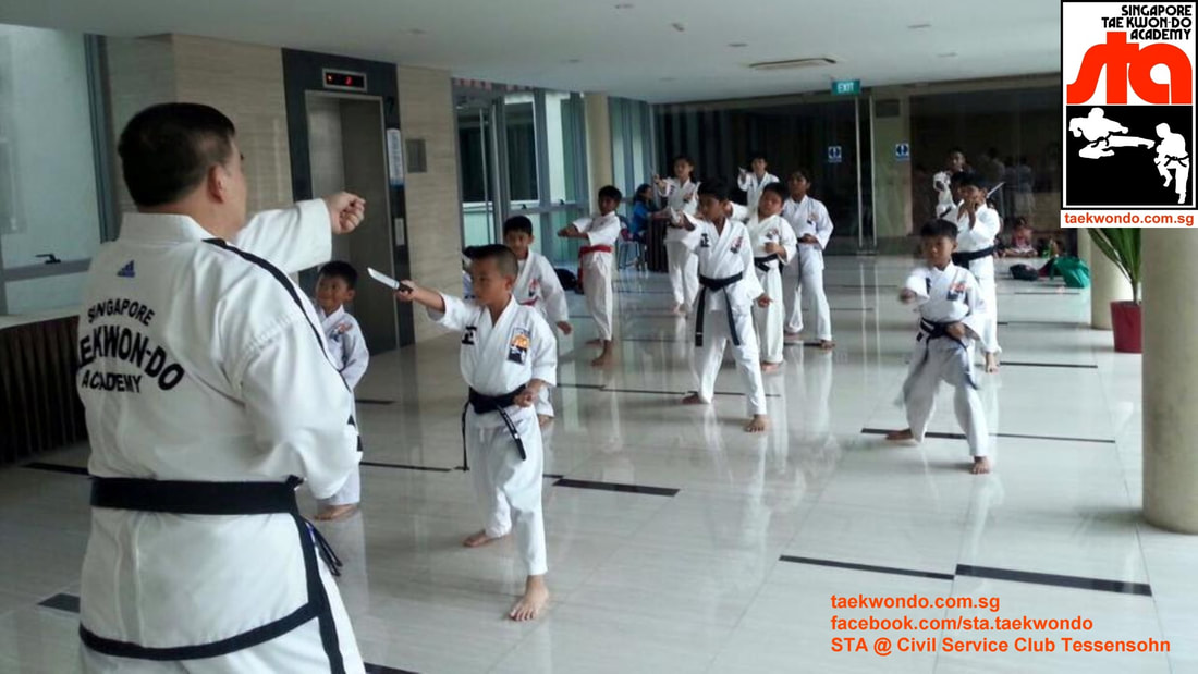 Knife Self Defence Training STA Civil Service Club Black Belt Class Master Albert Ong Taekwondo